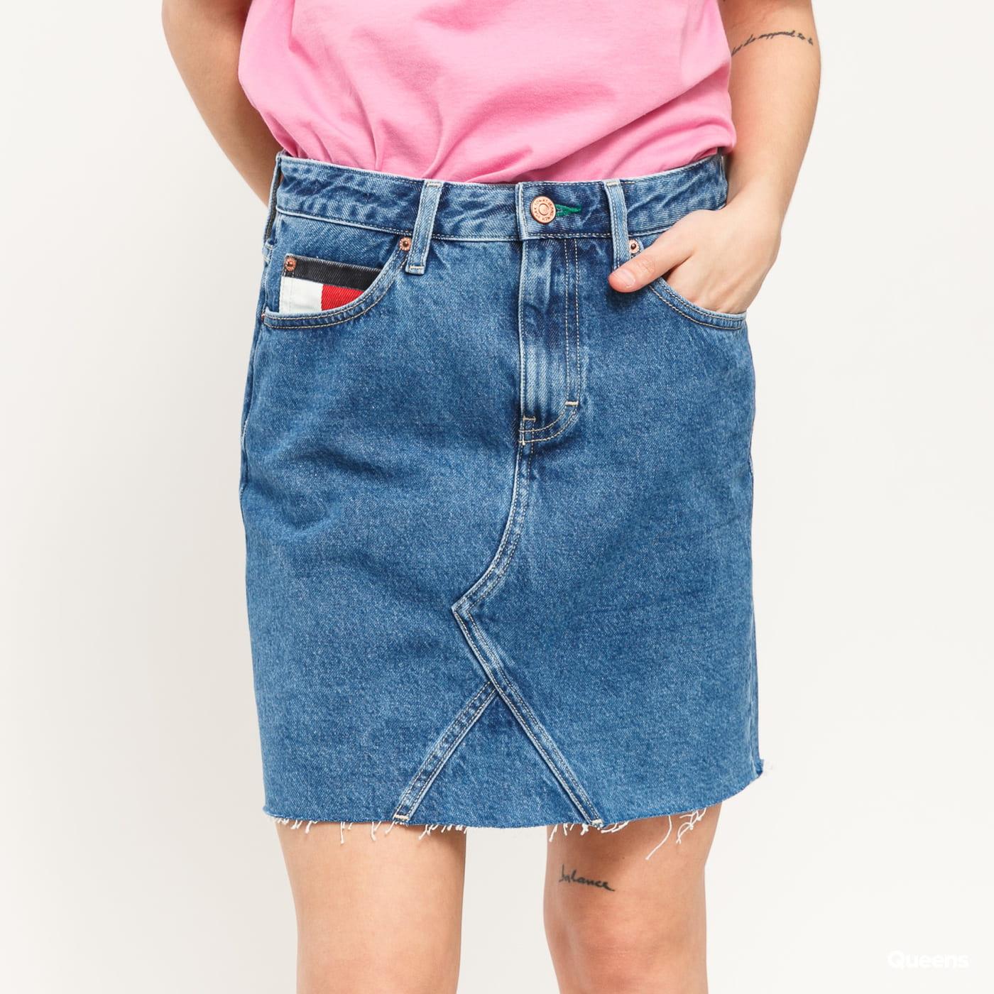 TOMMY JEANS W Short Denim Skirt save 20 mid bl rig