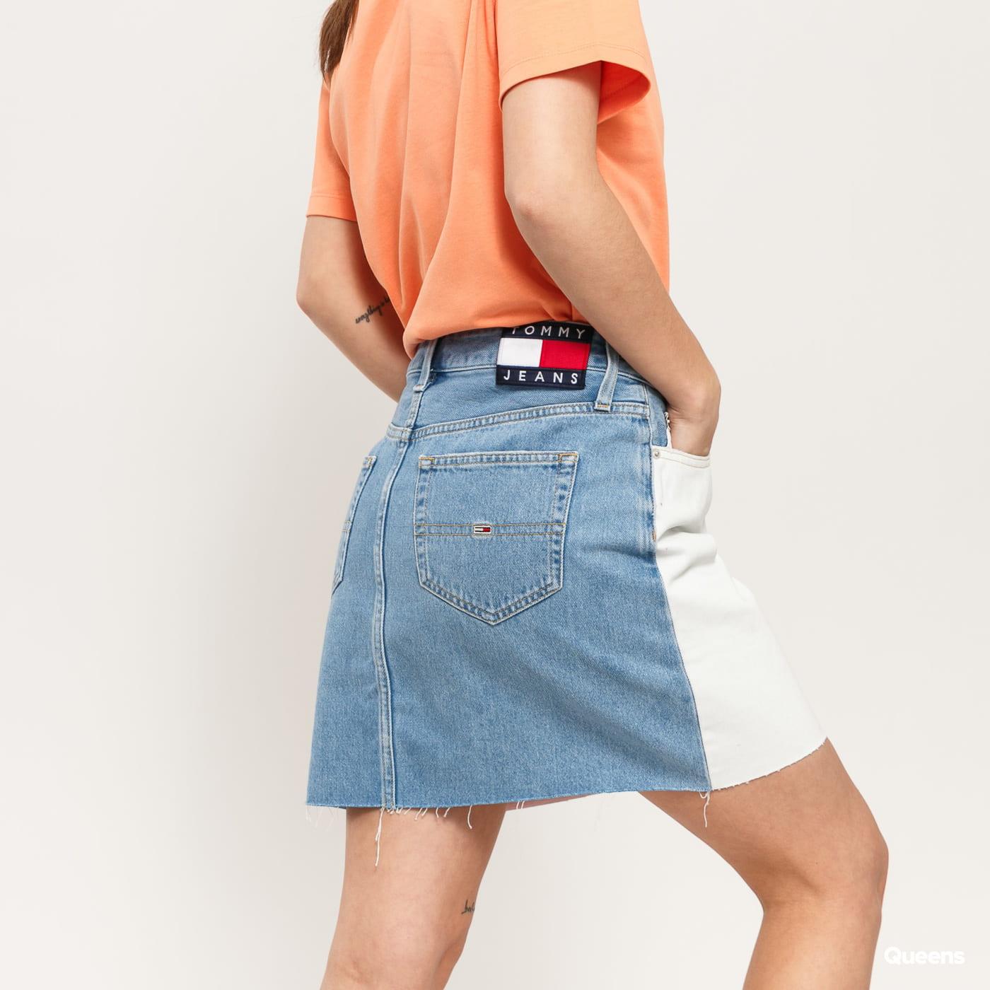 TOMMY JEANS W Short Denim Skirt tommy flag lt bl rig