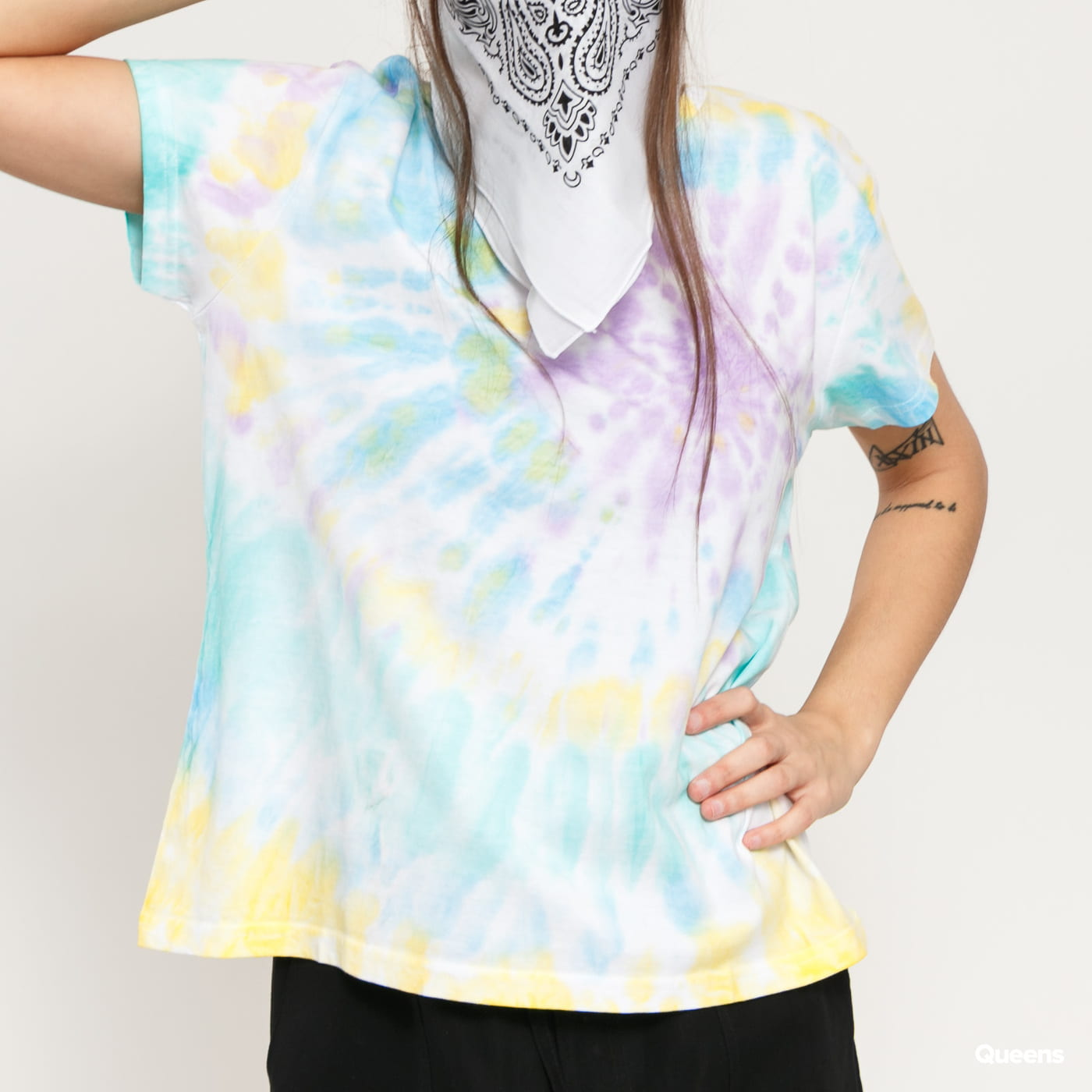 Urban Classics Ladies Tie Dye Boyfriend Tee multicolor
