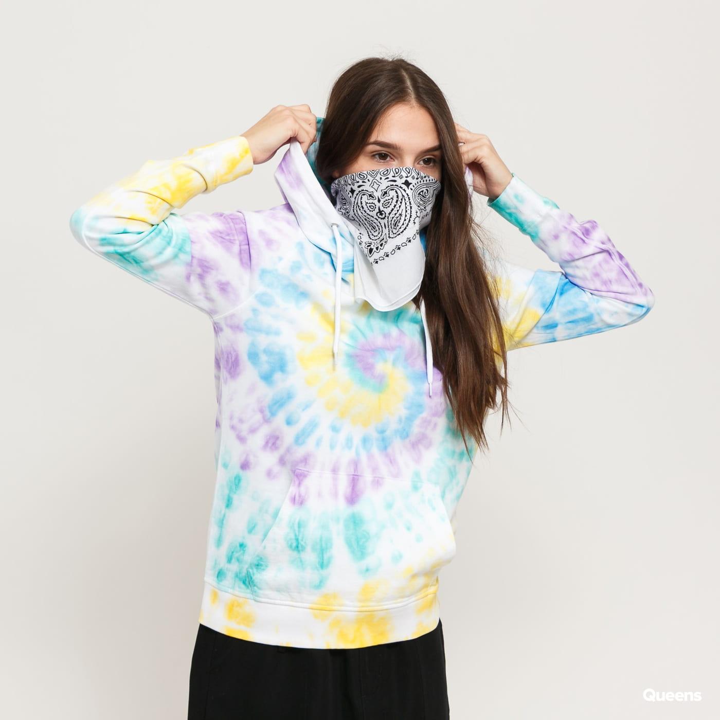 Urban Classics Ladies Tie Dye Hoody biela / multicolor