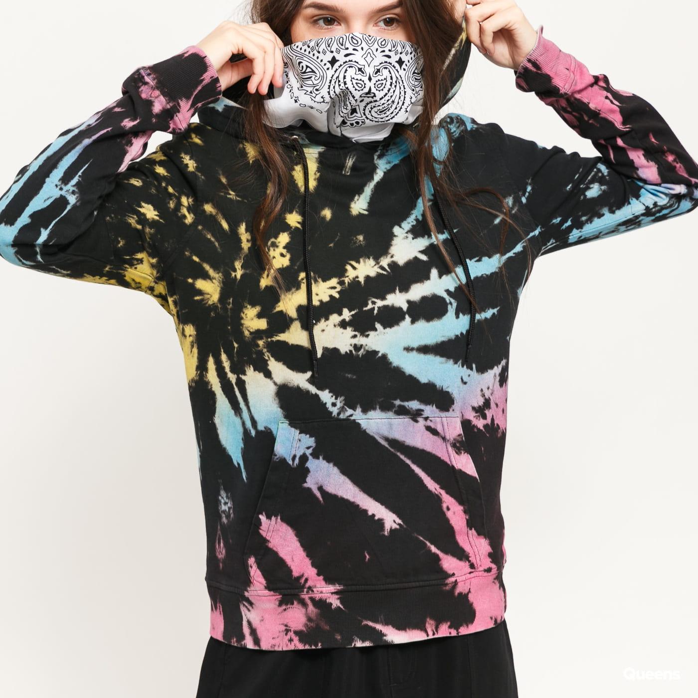 Urban Classics Ladies Tie Dye Hoody black / multicolor