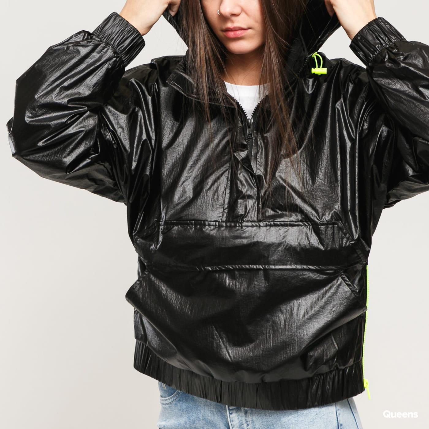 Urban Classics Ladies Vanish Crinkle Pull Over Jacket schwarz