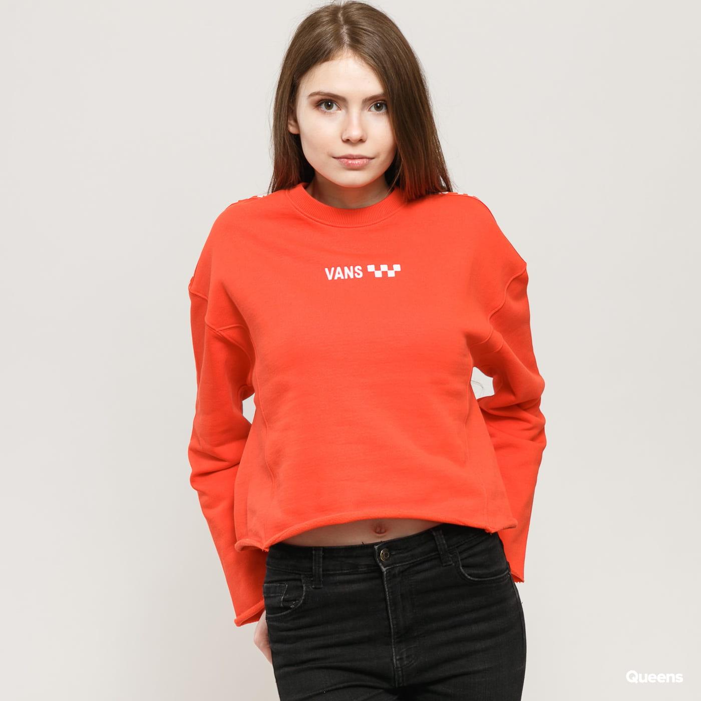 Vans WM Brand Striper Crew červená
