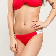 Calvin Klein Cheeky Bikini - Slip červené / bílé