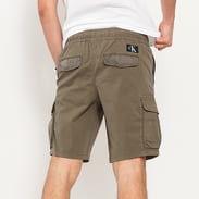 CALVIN KLEIN JEANS M CKJ 026 Simple Washed Cargo Short olivové