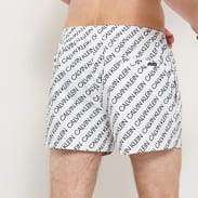 Calvin Klein Short Drawstring - Print bílé / černé