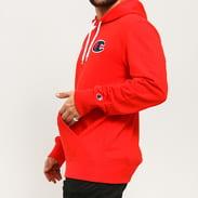 Champion Satin C Logo Cotton Terry Hoodie red