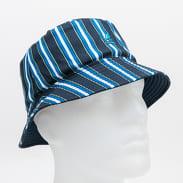 KANGOL Double Pattern Bucket navy / modrý / bílý / zelený