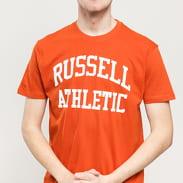 RUSSELL ATHLETIC Arch Logo T-Shirt tmavě oranžové