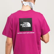 The North Face M SS Red Box Tee fialové