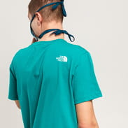 The North Face M SS Simple Dome Tee tmavě tyrkysové