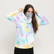 Urban Classics Ladies Tie Dye Hoody bílá / multicolor