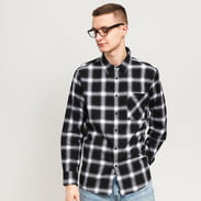 Urban Classics Oversized Checked Shirt schwarz / weiß