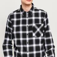 Urban Classics Oversized Checked Shirt čierna / biela
