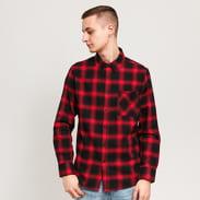 Urban Classics Oversized Checked Shirt červená / černá