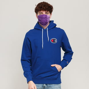 Champion Satin C Logo Cotton Terry Hoodie