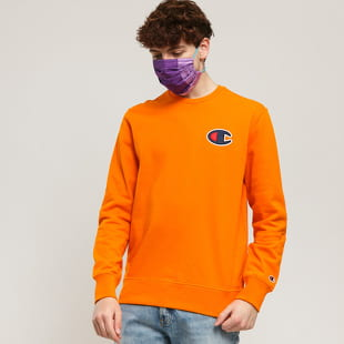 Champion Satin C Logo Cotton Terry Sweatshirt