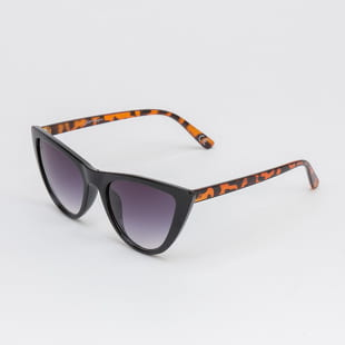 Jeepers Peepers Black Tort Cat Eye Sunglasses