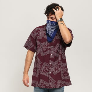 LACOSTE Hawaiian Fit Print Poplin Shirt