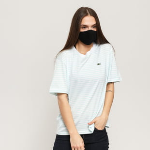LACOSTE Striped Cotton Crewneck Tee