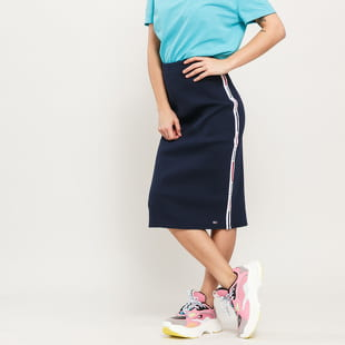 TOMMY JEANS W Tape Detail Rib Skirt