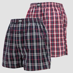 Urban Classics Woven Plaid Boxer Shorts 2-Pack