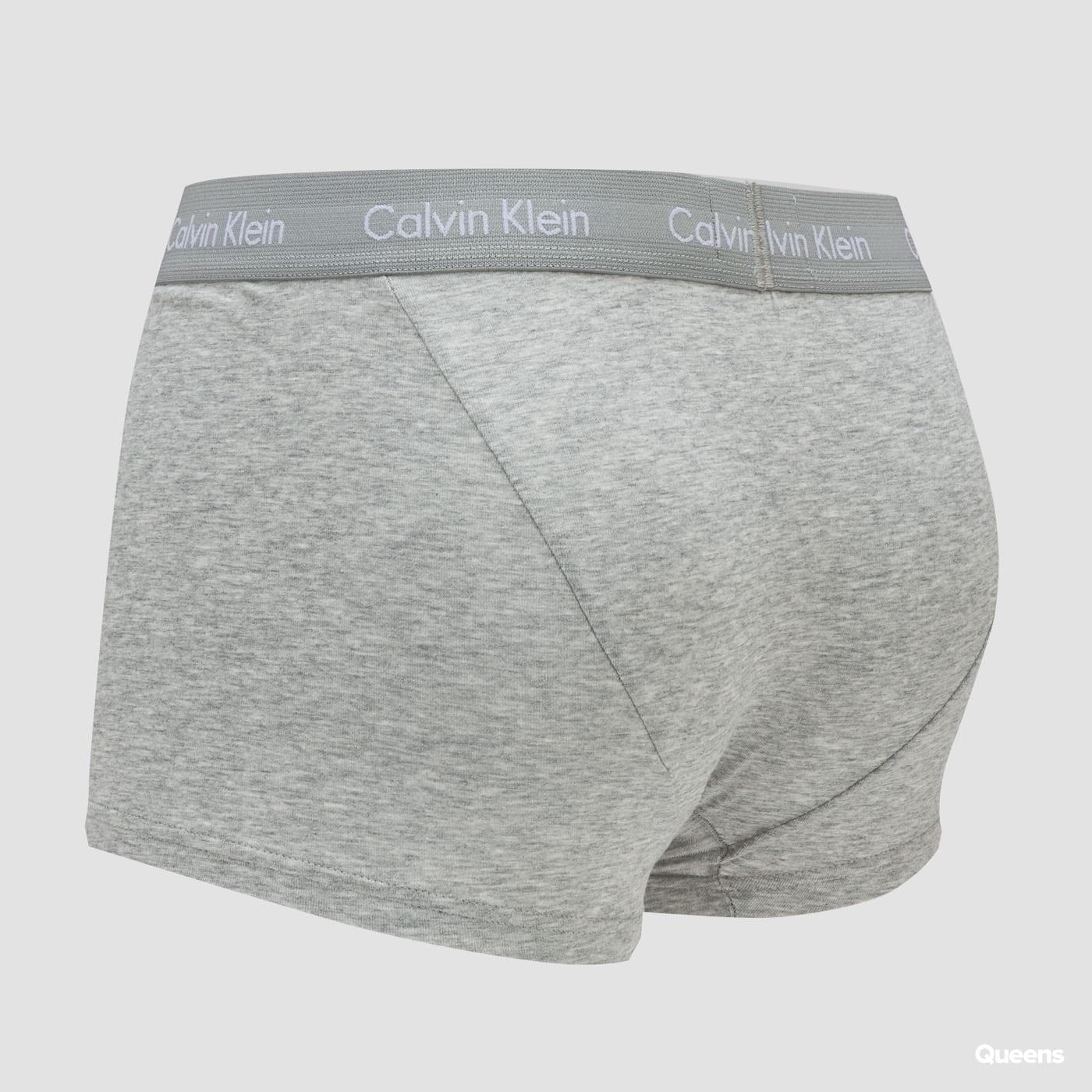 Calvin Klein 3 Pack Low Rise Trunks C/O black / melange gray