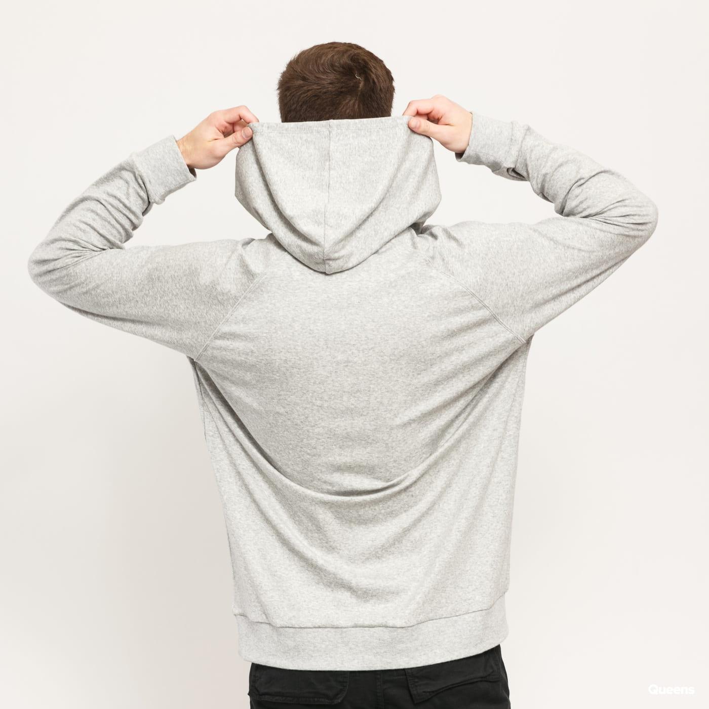 Calvin Klein LS Hoodie melange šedá