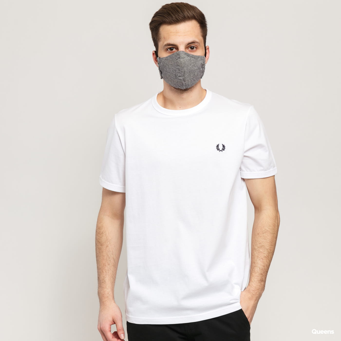 FRED PERRY Ringer Tee blue / turquoise