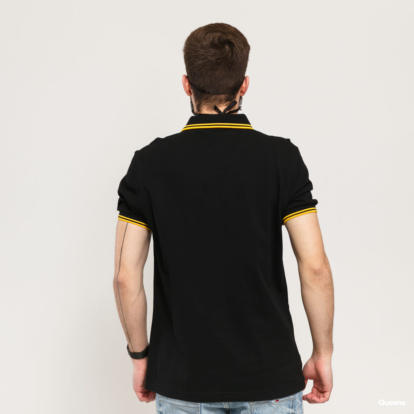 FRED PERRY Twin Tipped Fred Perry Shirt black / yellow