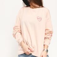 Carhartt WIP W' L/S Eve Heart T-Shirt světle růžové