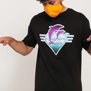 Pink Dolphin Waves Pendant Tee černé