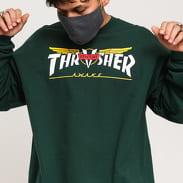 Thrasher Venture Collab Crewneck tmavě zelená