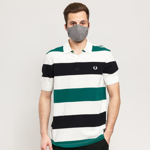 FRED PERRY Texture Stripe Polo Shirt