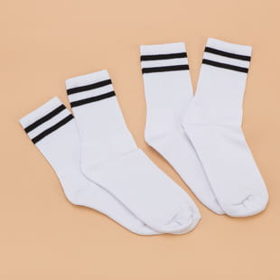 Urban Classics 2-Stripe Socks 2-Pack