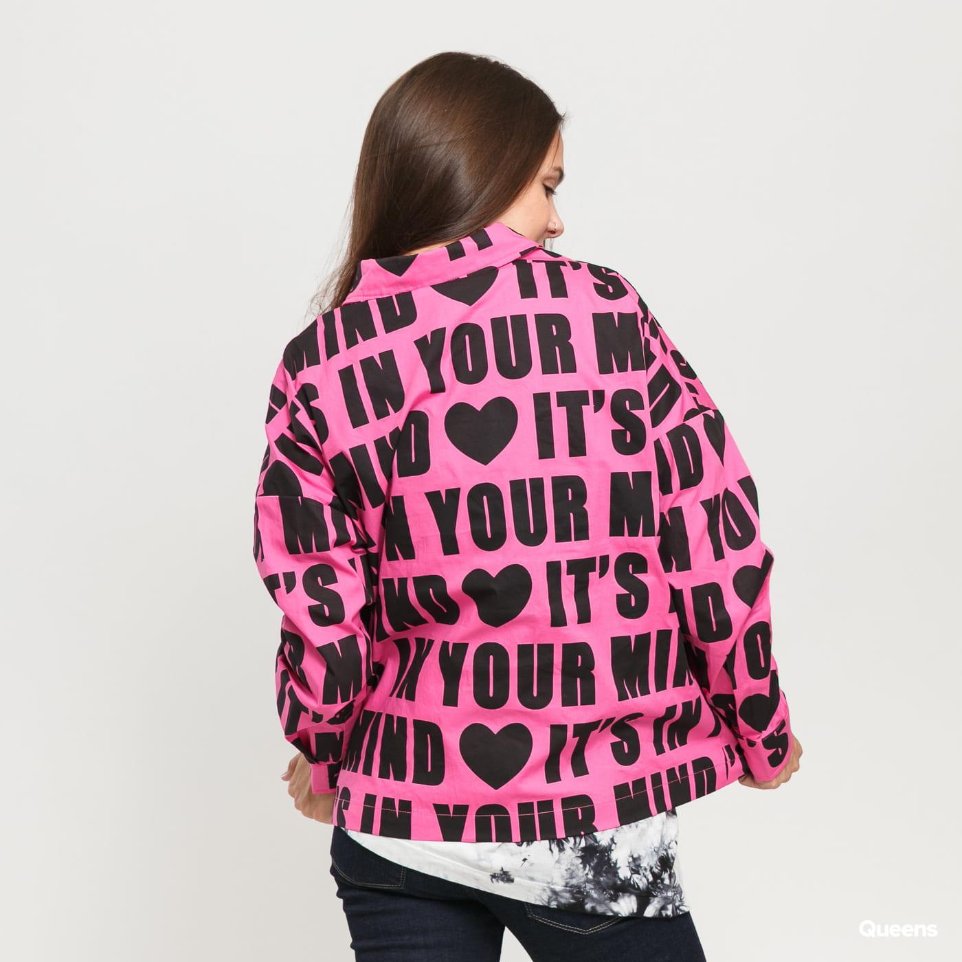 LAZY OAF It's In Your Mind Shirt růžová / černá