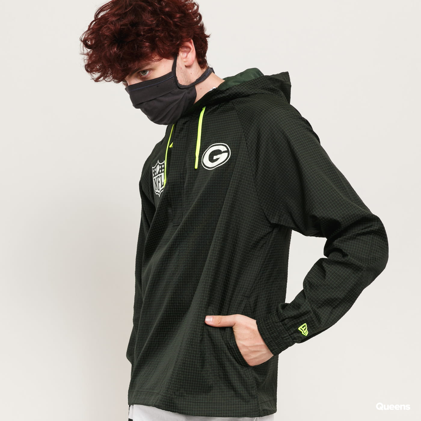 New Era NFL Windbreaker G tmavě zelená