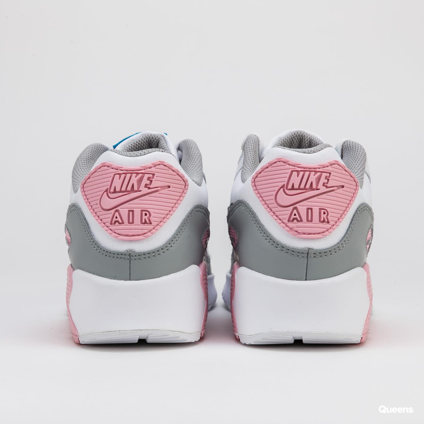 Nike Air Max 90 Leather (GS) lt smoke grey / metallic silver