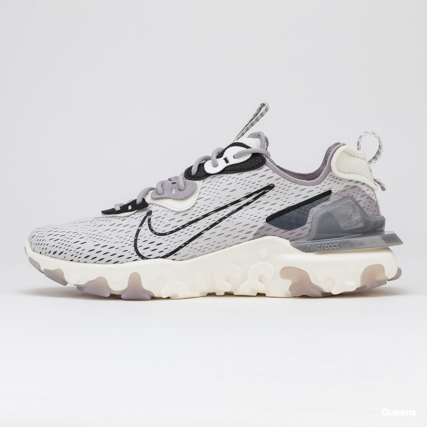 Nike React Vision vast grey / black - sail - white