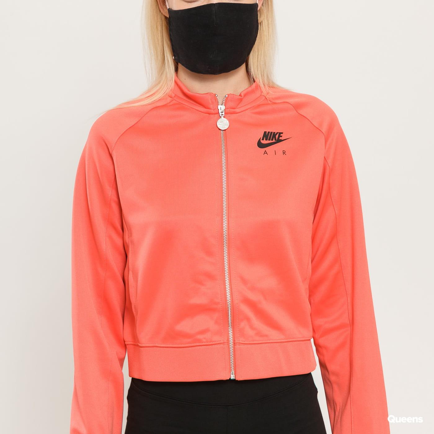 Nike W NSW Air Jakcet PK tmavě růžová