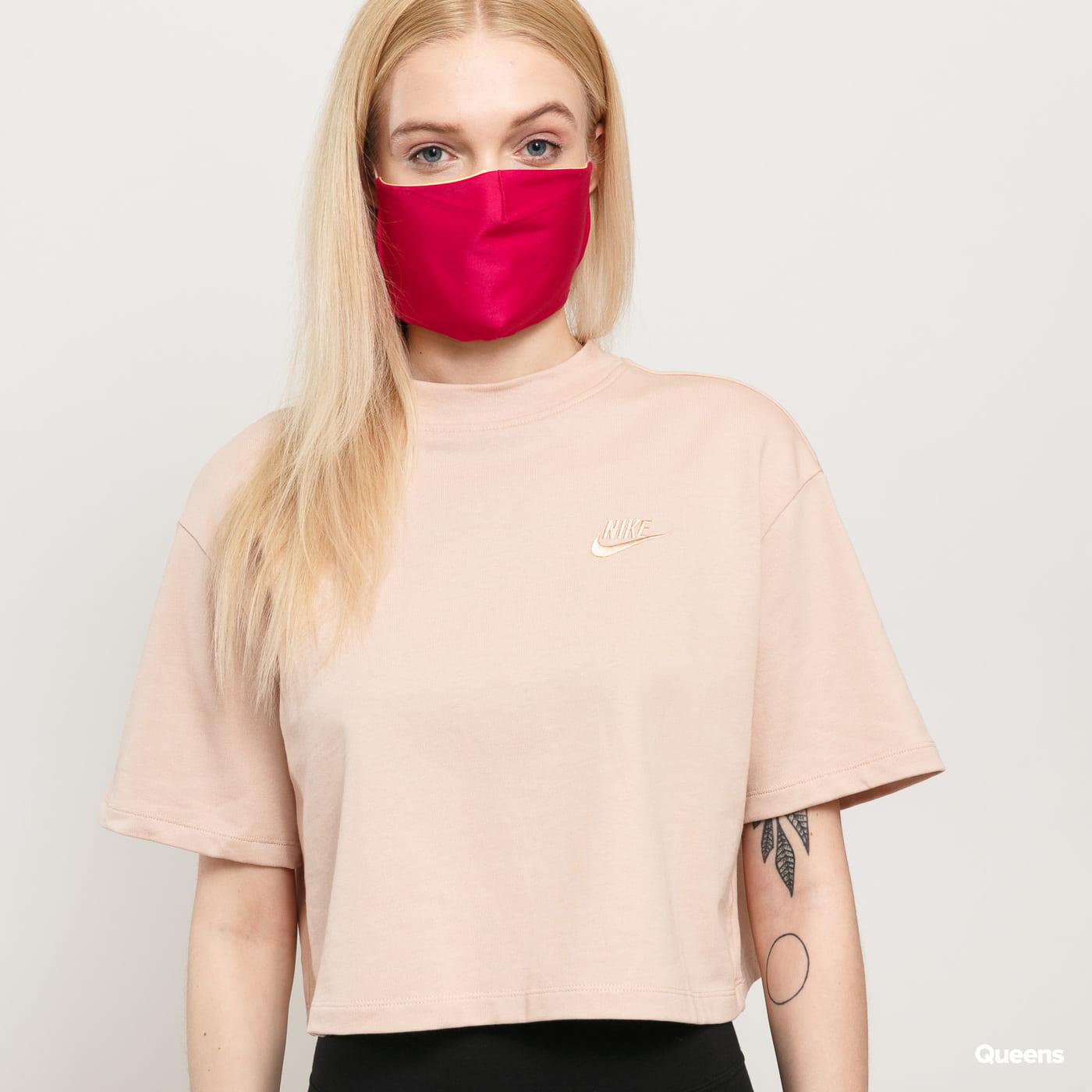 Nike W NSW Top SS Jersey světle růžové