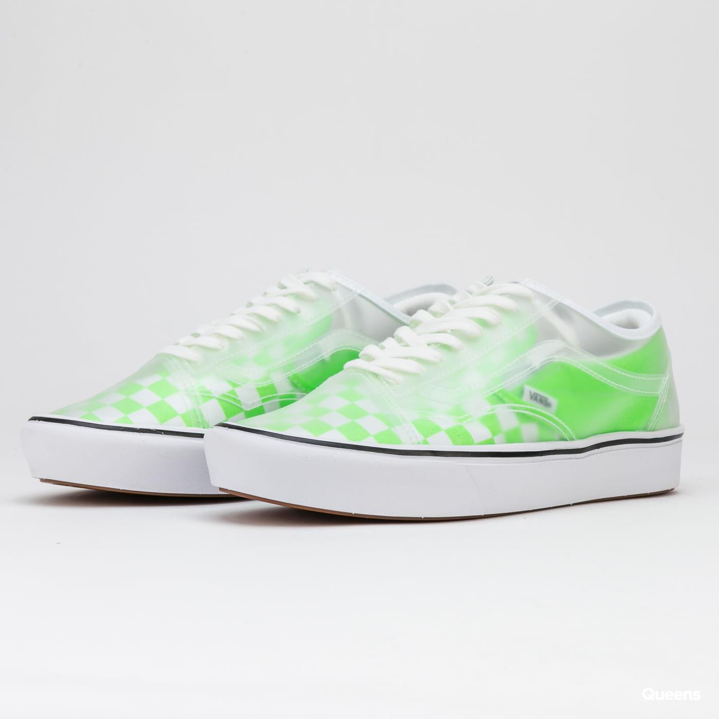 Vans ComfyCush Slip-Skool (checkerboard) green gecko / true white