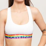 Calvin Klein Unlined Bralette bílé / multicolor