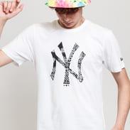 New Era MLB Paisley Print Monochrome Tee NY white / black