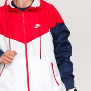 Nike M NSW HE WR Jacket HD bílá / navy / červená