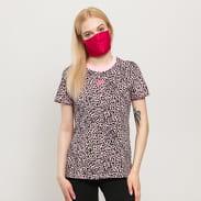 Nike W NSW AOP Print Pack SS Tee růžové / černé