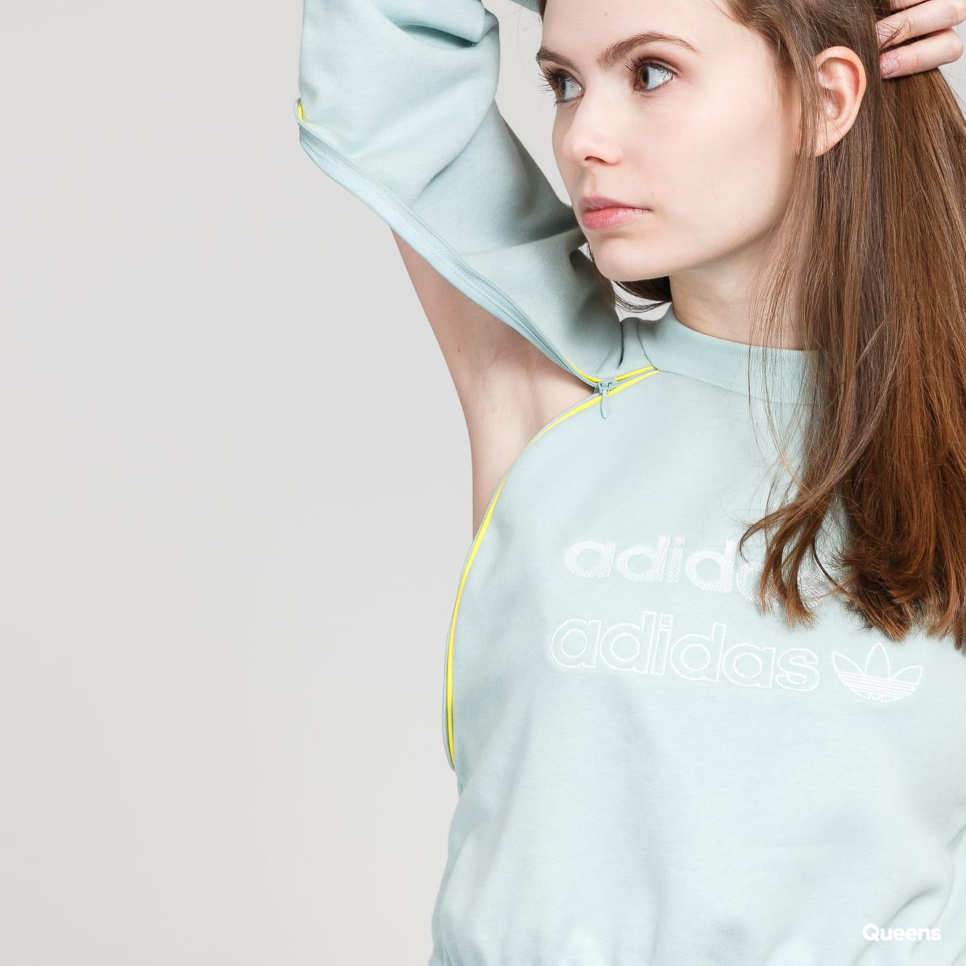 adidas Originals Cropped sweater mentolová
