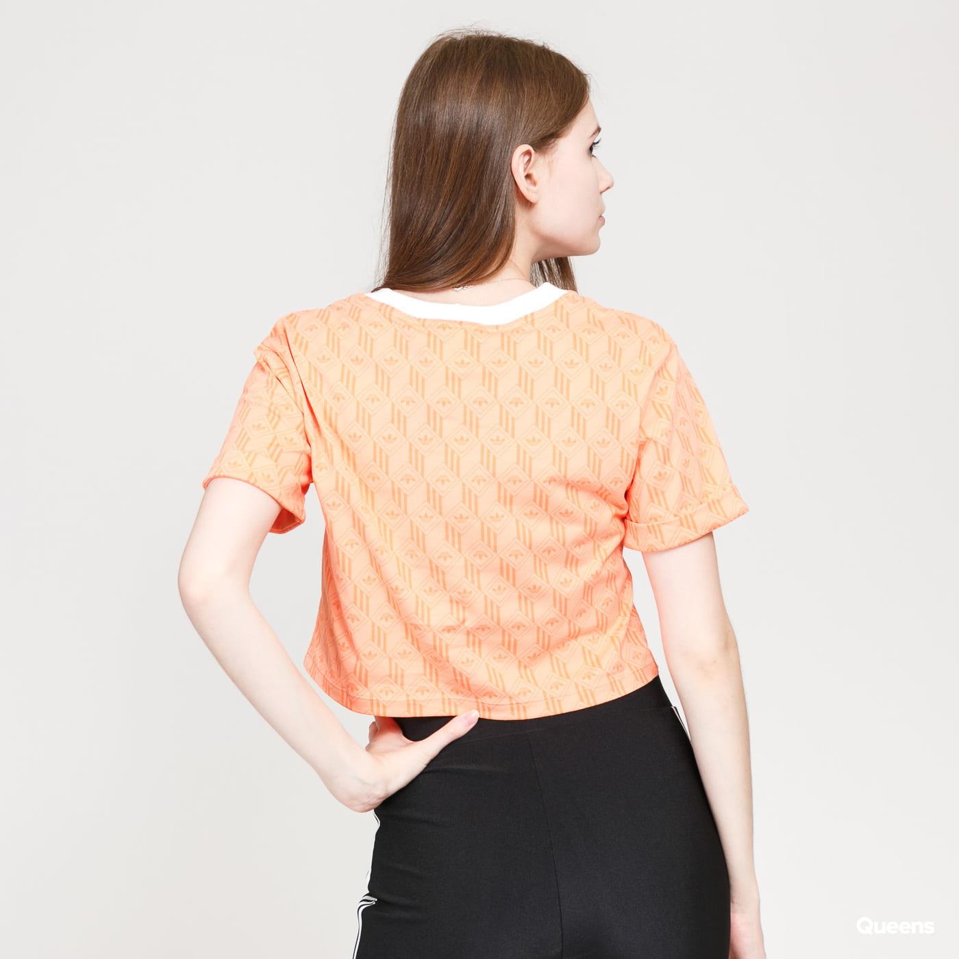 adidas Originals Cropped T-shirt oranžové