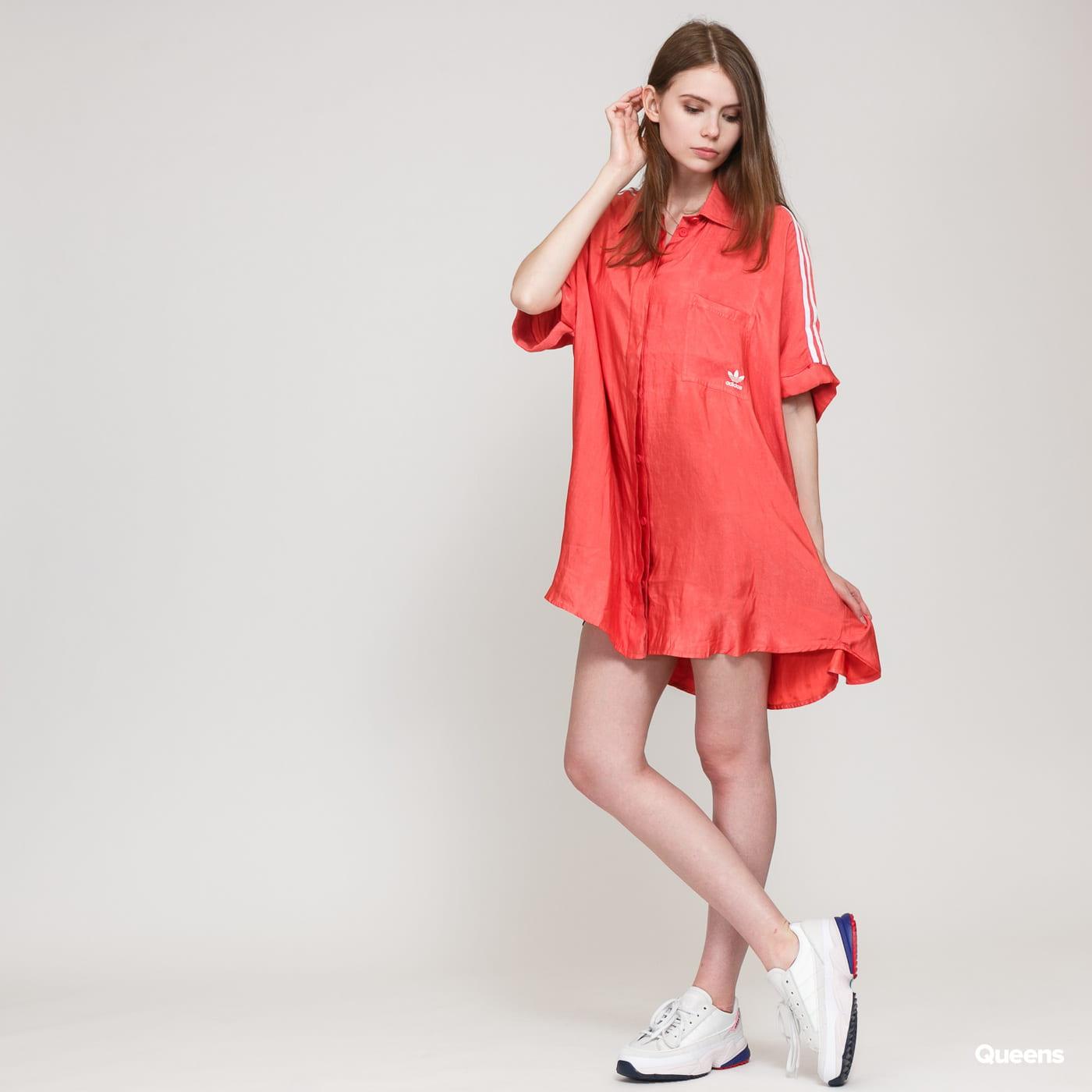 adidas originals satin dress rosa