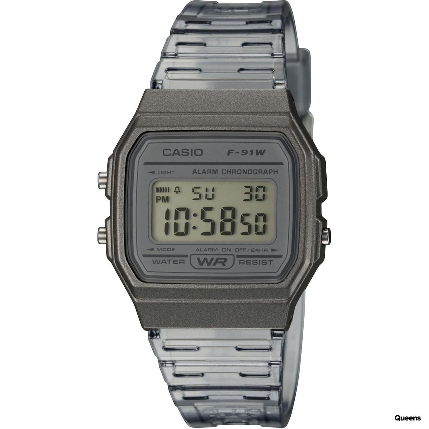 Casio F 91WS-8EF grey / transparent
